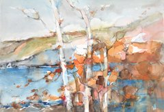 "#235 Birch Bay, Ontario - 22""x15"", Watercolour on paper"