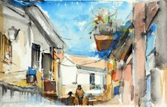 """#157 Ruette Espagnol, Espagne - 11""""x7"""", Watercolour on paper"""