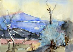 "#253 Blue North, Ontario - 21""x15"", watercolour on paper"