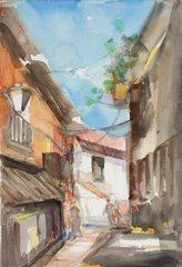 """#191 Ruette Espagnol - 12""""x18"""", Watercolour on paper"""