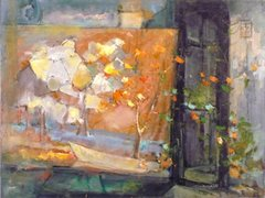 """#088 Atelier Bergeron, France - 24""""x18"""", Oil on board"""