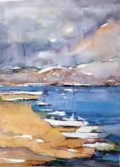 "#190 Harbour - 15""X21"" Watercolour on paper"
