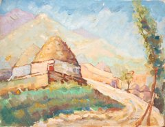 """#168 Old Village Road,Syria - 18""""x14"""", Oil on canvas"""