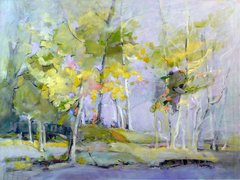 "#029 Birches Right, Ontario - 30""x24"", Oil on board"