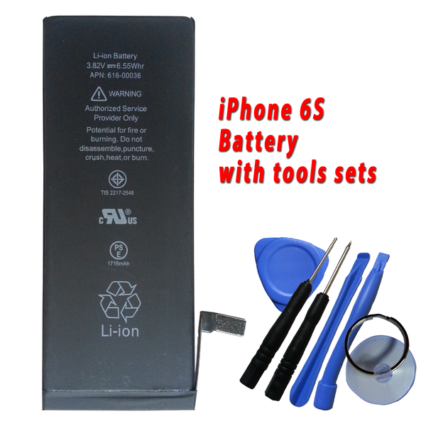 New Battery replacement for iPhone 6S 616-00036 1715mAh Plus Free Tools Kits