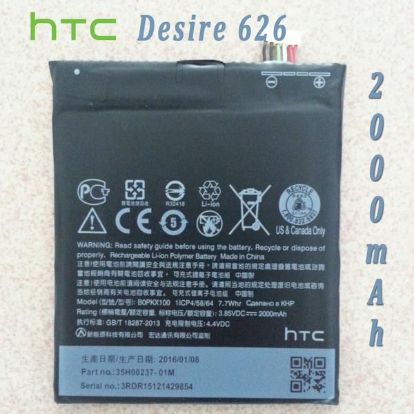 New Li-Ion Polymer Battery for HTC Desire 626 BOPKX100 2000mAh A22 A32