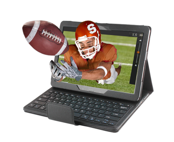 """MAESTRO 10"""" 3d Glasses-Free Android PC Tablet includes black bluetooth keyboard, cover and stylus. SHIPS IMMEDIATELY"""