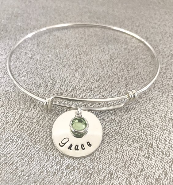 love back moon to bangle bangles personalized bracelet i you and the