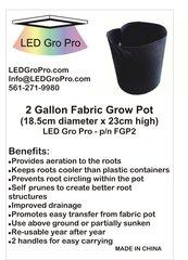 2 Gallon Fabric Grow Bag - lot of five (5)
