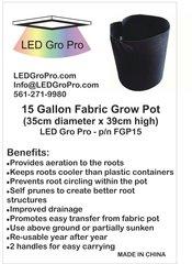 15 Gallon Fabric Grow Pot - Wholesale lot of 100 each