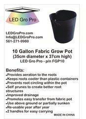 10 Gallon Fabric Grow Pot - lot of five (5)