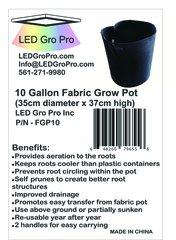 10 Gallon Fabric Grow Pot - lot of fifty (50)