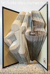 Golfer : : Hole In One! : : Hand folded book art