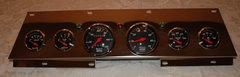 Chevelle 1966/1967 Chrome Dash Panel with Black Face Gauges (Mechanical Speedo)