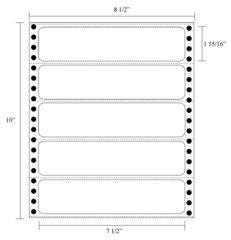 "Transcription Labels - 1 15/16"" X 7 1/2"" Pin Fed"