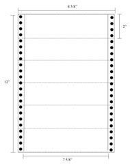 "Transcription Labels - 7 5/8"" X 2"" Pin Fed"
