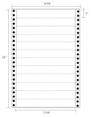 "Transcription Labels - 7 5/8"" X 1"" Pin Fed"