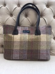Blu Beri Large Tweed Bag - Heather Check