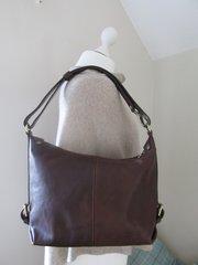 Brown Italian Leather Shoulder Bag - L57