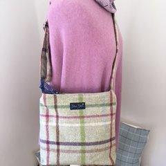 Blu Beri Tweed Crossbody Bag W25
