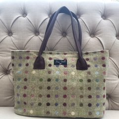 Blu Beri Large Tweed Bag - Lime Multi Spot W21