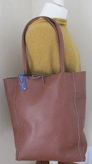 Leather Tote Bag - Brown L25
