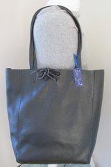 Italian Leather Tote Bag - Black L60