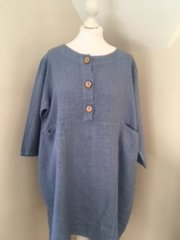 Linen Dress - Demin Blue LN02
