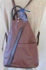 Blu Beri Italian Leather Back Pack