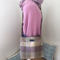 Blu Beri Tweed Crossbody Bag - W24
