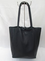Blu Beri Italian Leather Tote Bag - Navy