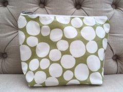 Blu Beri Oil Cloth Wash Bag Olive Green Spot