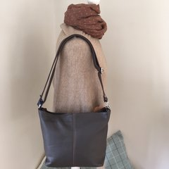 Italian Leather Chocolate Brown Shoulder Bag - L78