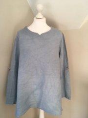 Linen Tunic - LN04 Blue Denim