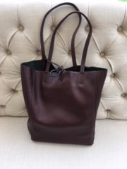 Italian Leather Tote Bag - Wine L103