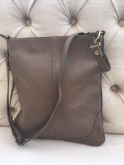 Italian Leather Crossbody Bag Taupe
