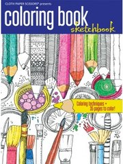 Coloring Book Sketchbook by Cloth Paper Scissors (Jodi Ohl)