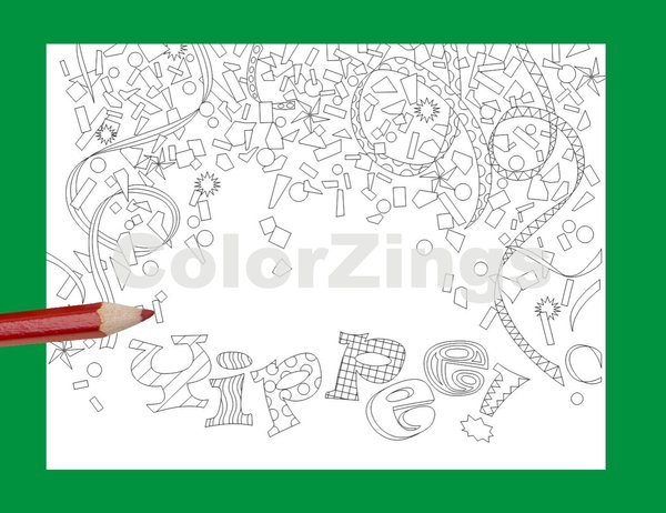 Greeting Cards for coloring | ColorZings, adult coloring, Coloring ...