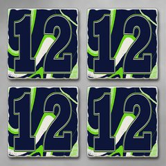 "Seahawks ""12"" Absorbent Coaster Set"