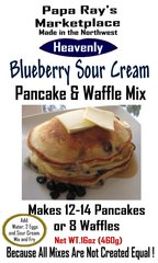 Papa Ray's Blueberry Sour Cream Pancake and Waffle Mix