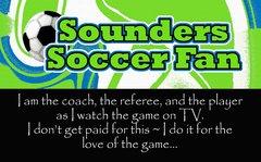 Sounders Coach Ultimate Fan Sport Board