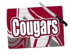 Cougars Large Tempered Glass Cutting Board