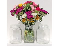 Square Wire Wrapped HANGING Jar Vase Set of 3