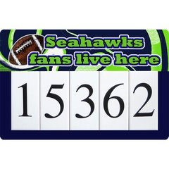 Seahawks Address Sign Large