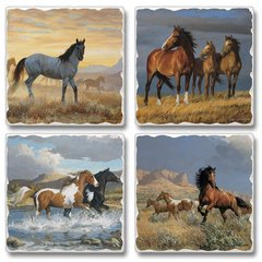 Never Broken Horses Absorbent Coaster Set