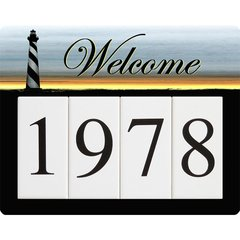 Lighthouse Address Sign Small