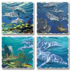 Dolphins Absorbent Coaster Set