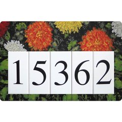 Dahlia Address Sign Large