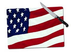 Flag Tempered Glass Cutting Board