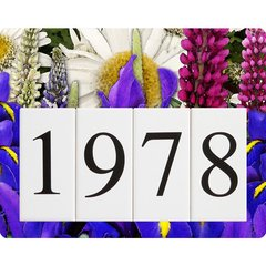 Iris Lupine Daisy Address Sign Small